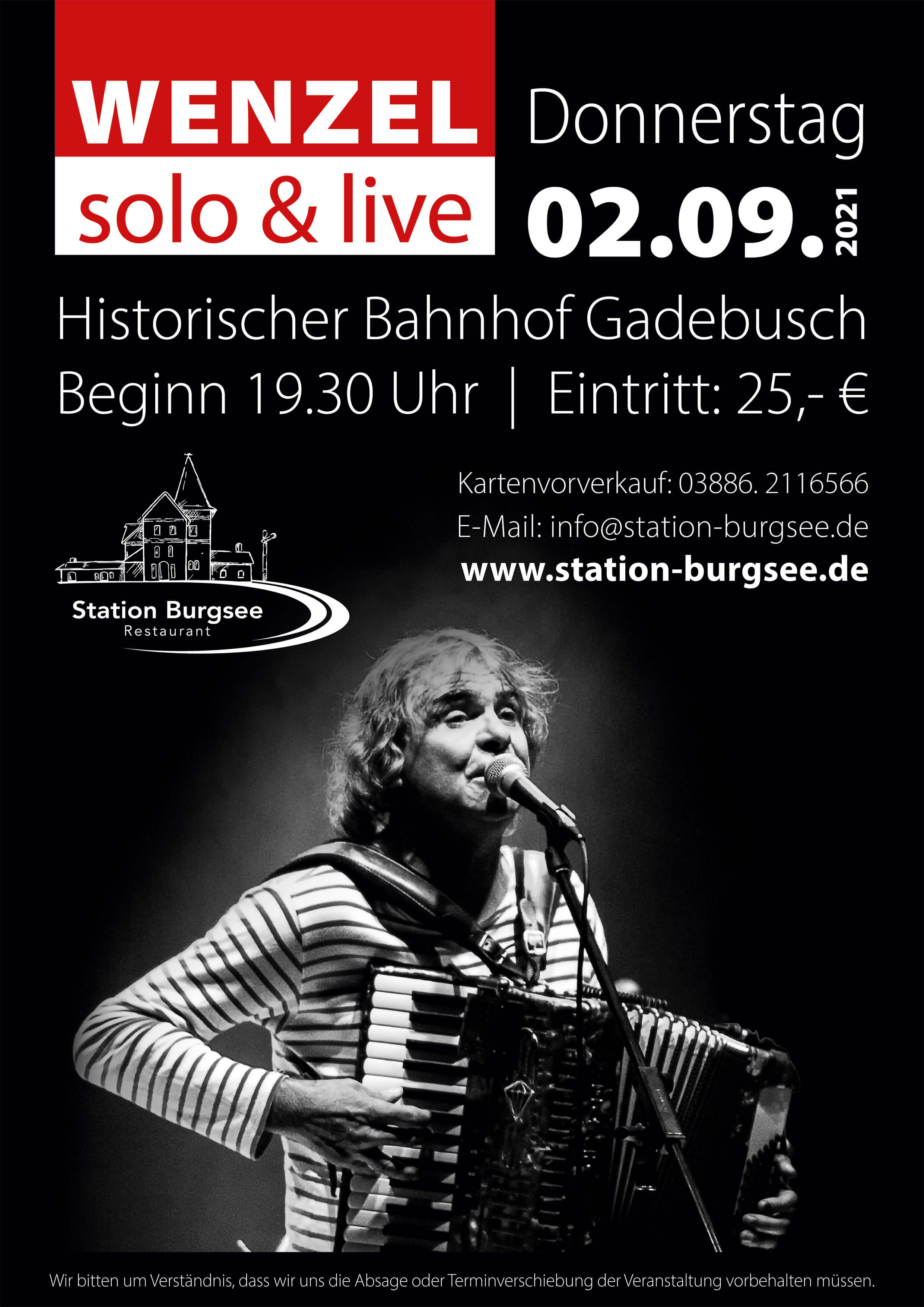 WENZEL solo & live 02.09.2021